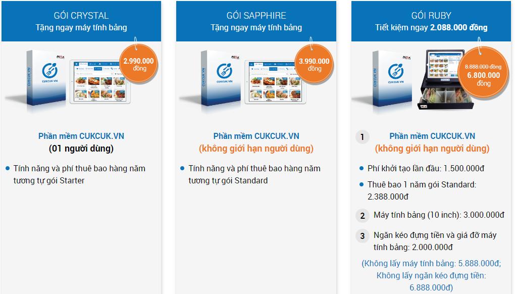 Ưu đãi lớn: Tặng tablet cho khách hàng đăng ký mua phần mềm quản lý nhà hàng, quán cafe CUKCUK.VN